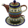 17 oz Stoneware Tea Set for One - Polmedia Polish Pottery H6581E