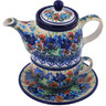 17 oz Stoneware Tea Set for One - Polmedia Polish Pottery H7369G