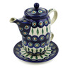 17 oz Stoneware Tea Set for One - Polmedia Polish Pottery H8560F