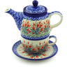 17 oz Stoneware Tea Set for One - Polmedia Polish Pottery H9622E