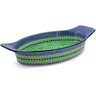 18-inch Stoneware Oval Baker with Handles - Polmedia Polish Pottery H5911J