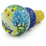 2-inch Stoneware Bottle Stopper - Polmedia Polish Pottery H4731G