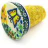 2-inch Stoneware Bottle Stopper - Polmedia Polish Pottery H5558G