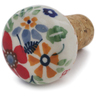 2-inch Stoneware Bottle Stopper - Polmedia Polish Pottery H6756K