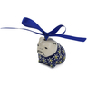 2-inch Stoneware Dog Ornament - Polmedia Polish Pottery H6528K