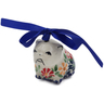 2-inch Stoneware Dog Ornament - Polmedia Polish Pottery H6583K