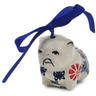 2-inch Stoneware Dog Ornament - Polmedia Polish Pottery H6835K