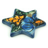 2-inch Stoneware Ornament Star - Polmedia Polish Pottery H1934I