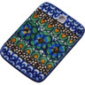 2-inch Stoneware Rectangle Pendant - Polmedia Polish Pottery H6232G