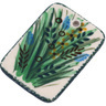 2-inch Stoneware Rectangle Pendant - Polmedia Polish Pottery H6293G