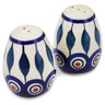 2-inch Stoneware Salt and Pepper Set - Polmedia Polish Pottery H0577L