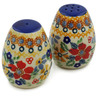 2-inch Stoneware Salt and Pepper Set - Polmedia Polish Pottery H9642J