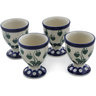2-inch Stoneware Set of 4 Egg Holders - Polmedia Polish Pottery H0596L