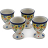 2-inch Stoneware Set of 4 Egg Holders - Polmedia Polish Pottery H0599L