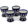 2-inch Stoneware Set of 4 Egg Holders - Polmedia Polish Pottery H0603L