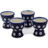 2-inch Stoneware Set of 4 Egg Holders - Polmedia Polish Pottery H0604L
