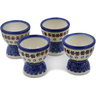 2-inch Stoneware Set of 4 Egg Holders - Polmedia Polish Pottery H0613L