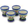 2-inch Stoneware Set of 4 Egg Holders - Polmedia Polish Pottery H6176K
