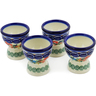 2-inch Stoneware Set of 4 Egg Holders - Polmedia Polish Pottery H6177K