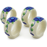 2-inch Stoneware Set of 4 Napkin Rings - Polmedia Polish Pottery H6172K