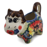 2 oz Stoneware Cow Shaped Creamer - Polmedia Polish Pottery H0941E