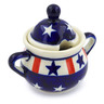 2 oz Stoneware Sugar Bowl - Polmedia Polish Pottery H4308J