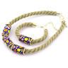 20-inch Stoneware Bracelet and Necklace Combo - Polmedia Polish Pottery H0335G