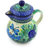 20 oz Stoneware Pitcher with Lid - Polmedia Polish Pottery H3705G