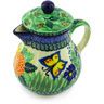 20 oz Stoneware Pitcher with Lid - Polmedia Polish Pottery H3884G