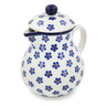 20 oz Stoneware Pitcher with Lid - Polmedia Polish Pottery H8326K