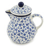 20 oz Stoneware Pitcher with Lid - Polmedia Polish Pottery H8653K
