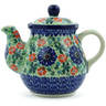 20 oz Stoneware Tea or Coffee Pot - Polmedia Polish Pottery H0942B