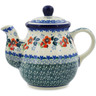20 oz Stoneware Tea or Coffee Pot - Polmedia Polish Pottery H3025K