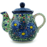 20 oz Stoneware Tea or Coffee Pot - Polmedia Polish Pottery H3895H