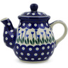 20 oz Stoneware Tea or Coffee Pot - Polmedia Polish Pottery H5695J