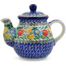 20 oz Stoneware Tea or Coffee Pot - Polmedia Polish Pottery H5696J