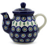 20 oz Stoneware Tea or Coffee Pot - Polmedia Polish Pottery H6711B