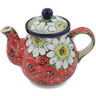 20 oz Stoneware Tea or Coffee Pot - Polmedia Polish Pottery H9781K
