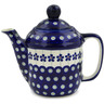 22 oz Stoneware Tea or Coffee Pot - Polmedia Polish Pottery H1392L