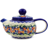 22 oz Stoneware Tea or Coffee Pot - Polmedia Polish Pottery H4391K