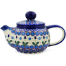 22 oz Stoneware Tea Pot with Sifter - Polmedia Polish Pottery H4390K