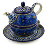 22 oz Stoneware Tea Set for One - Polmedia Polish Pottery H0306I