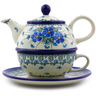22 oz Stoneware Tea Set for One - Polmedia Polish Pottery H0901I