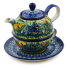 22 oz Stoneware Tea Set for One - Polmedia Polish Pottery H1657J