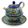 22 oz Stoneware Tea Set for One - Polmedia Polish Pottery H3372J