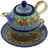 22 oz Stoneware Tea Set for One - Polmedia Polish Pottery H3467G