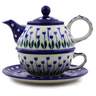 22 oz Stoneware Tea Set for One - Polmedia Polish Pottery H3815I