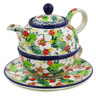 22 oz Stoneware Tea Set for One - Polmedia Polish Pottery H5526L