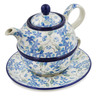 22 oz Stoneware Tea Set for One - Polmedia Polish Pottery H5595L