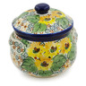 24 oz Stoneware Bouillon Cup with Lid - Polmedia Polish Pottery H7837J